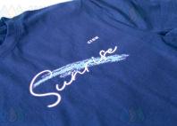 Синие футболки с надписью «SunRise»