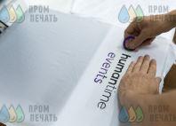 Белые футболки с логотипом «HUMANTIME EVENTS»
