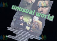 Черных футболки с изображением «unusual world»