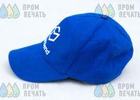 Синие бейсболки с контрастной бейкой с лого и надписью «SmartSend»