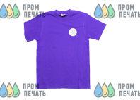 Фиолетовые футболки с логотипом «ЦДТ Добротворец»