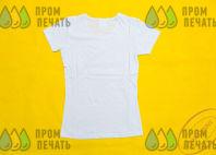 Белые футболки с логотипом «Бьюти десант»