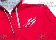Красные толстовки с логотипом «Red bullets»
