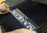 Черные футболки-поло с логотипом «MARKIN»