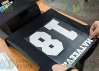 Черные футболки с текстом «MATVEEVA 18»