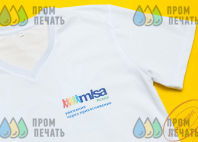 Белые футболки с логотипом и изображением «MISA»