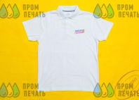 Белые футболки-поло с логотипом «МГЕР»