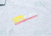 Серые футболки с логотипом «AURUM»