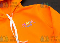 Оранжевые толстовки с лого «РАДУГА КИНО»