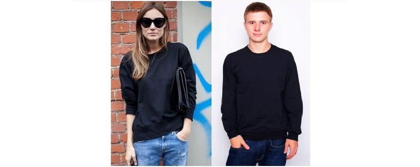 Фото парня и девушки в черных толстовках и джинсах