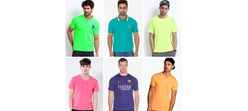 Фото парней в модных цветных футболках 2019