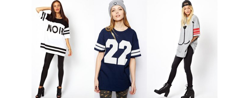 Фото девушек в модных женских футболках 2019 оверсайз