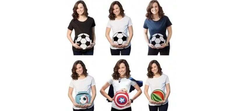 картинки с беременными девушками в футболках с рисунками
