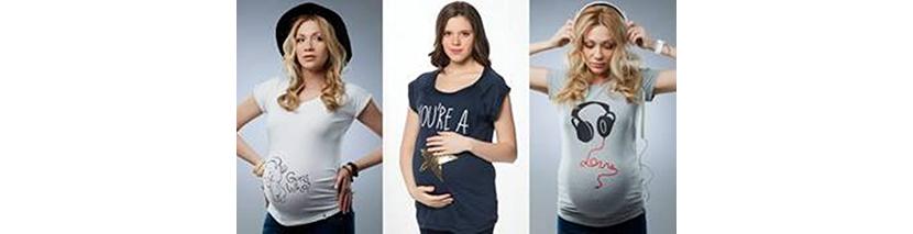 фото беременных девушек в футболках с прикольными надписями