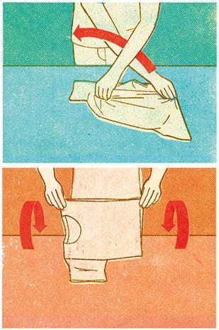 Фото как сложить футболку экспресс-методом