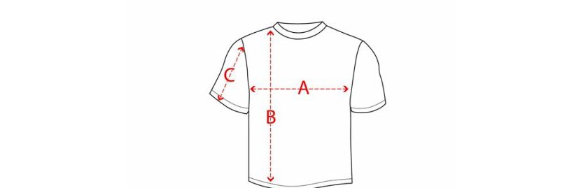 Фото правильного снятия мерок для определения размера футболки поло