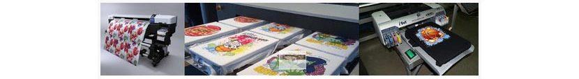 Фото оборудования разных типов для прямой цифровой печати на футболках