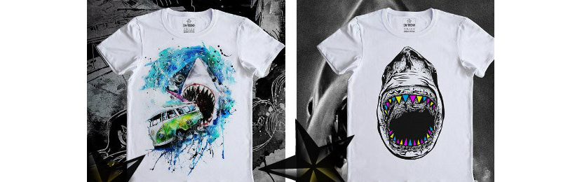 Фото крутых футболок с изображением акул