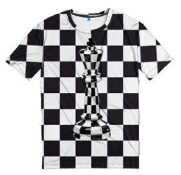 Фото футболки с принтов в клеточку
