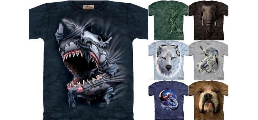 Фото футболок с креативными принтами с животными в 3Д