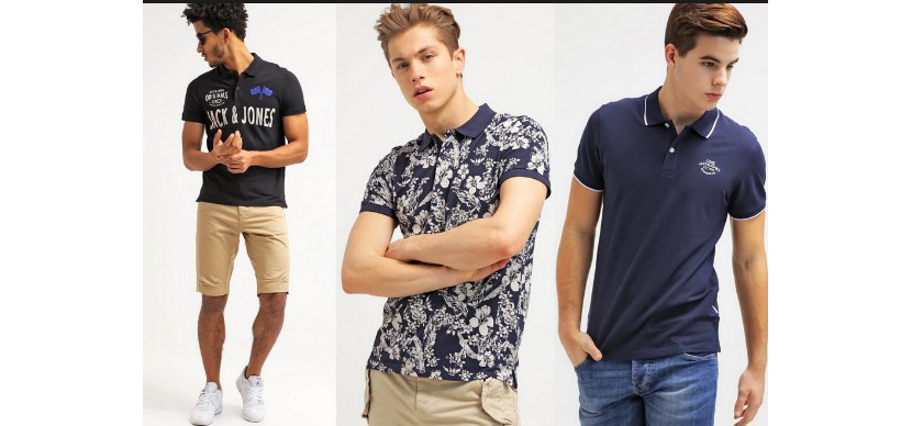 Фото парней в модных футболках поло с узорами