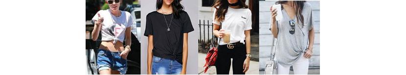 Фото девушек в модных подвязанных футболках