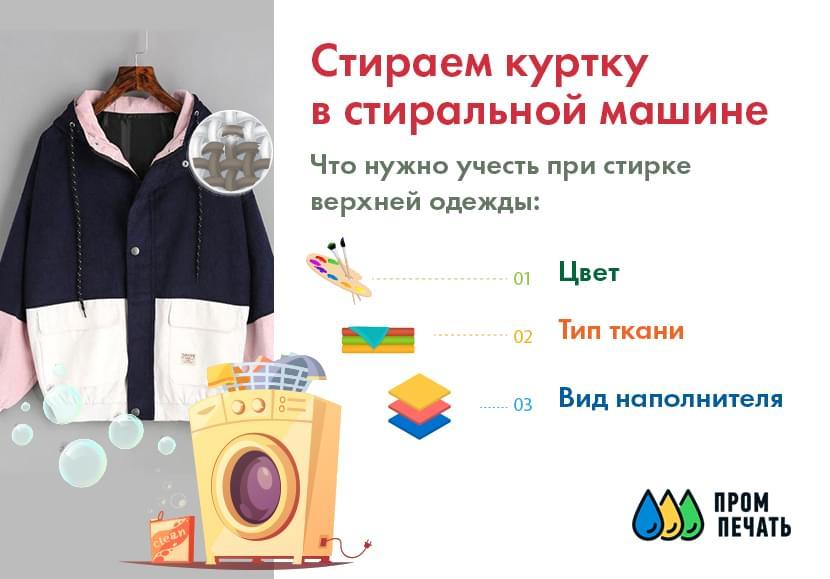Фото стирки курток из разных материалов в машинке