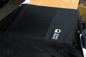 Нанесение логотипа «Soho Bridge» на толстовке