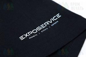 Футболки с логотипом «EXPOSERVICE»
