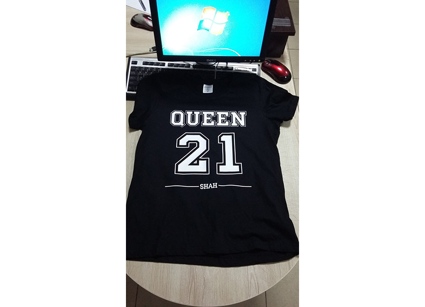 Выездная печать на футболках с изображением порядкового номера спортсмена