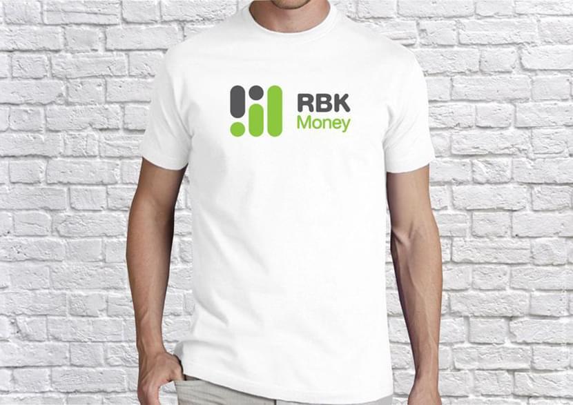 Изображение логотипа компании на футболке